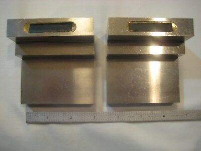 ANGLE PLATES MATCHED PAIR PRECISION GROUND HARDENED A-2 approx. 2 x 3 x 3