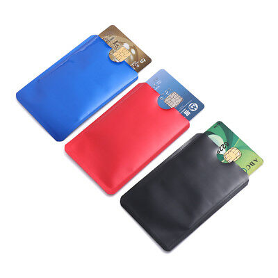 5pcs For RFID Secure Protector Blocking ID Credit Card Sleeves Holder Case