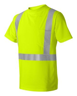 HIGH VIZ VISIBILITY WORK TSHIRT  ANSI 107 Class 2 Safety T-Shirt FREE HI VIZ HAT