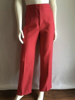 Vintage 70's High Waisted Rasberry/Pink Flare Retro Pants Size 10