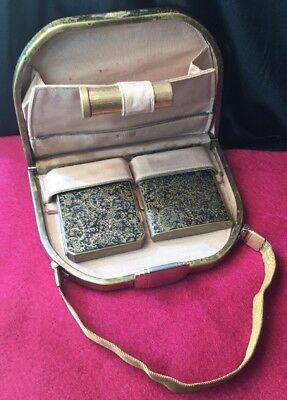 Vintage collectable Mesh Handle Hard Case Stratton Vanity Compact Minaudiere