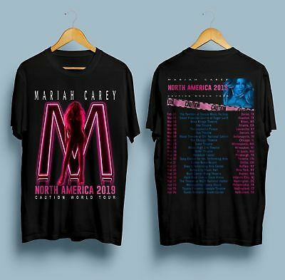 Limited New Mariah Carey Caution World Tour North America 2019 Tshirt S-5XL