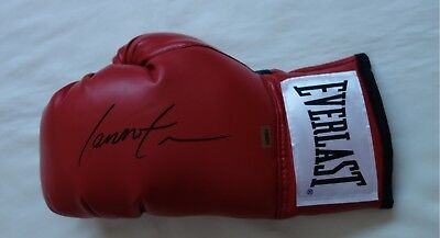 Lennox Lewis Signed Everlast Boxing Glove with Certificate of Authenticity