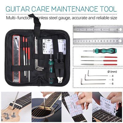 Guitar Care Tool HandBag Clean Maintenance Measure Kit Repair Fix Tool Kit/Set B