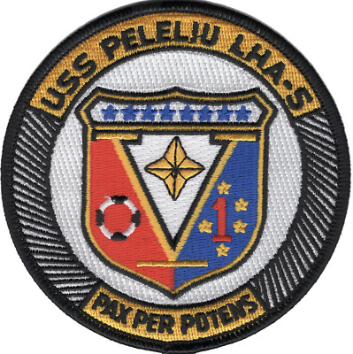 "4"" Navy Uss Lha-5 Peleliu Embroidered Patch"