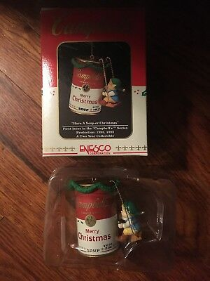Enseco Campbells Have A Soup-er Christmas Ornament 1992 Limited Series Edition