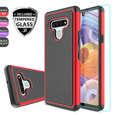 For LG Stylo 4 /4+ /4 Plus Shockproof Hybrid Armor Case Cover + Screen Protector
