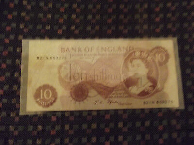 2 Bank Of England 10 Shilling Notes