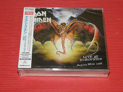 2014 JAPAN 2 CD IRON MAIDEN LIVE AT DONINGTON August 22nd 1992