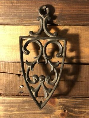Antique cast iron/ flat iron trivet late 1800's/ early 1900's 9x4 FREE SHIPPING