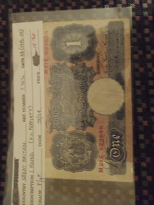 1940-48 Bank Of England 1 Pound Note
