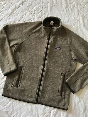 Euc Patagonia Mens Better Sweater Pale Khaki Fleece Jacket Full Zip