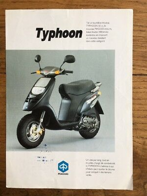 Brochure Scooter PIAGGIO TYPHOON 1992