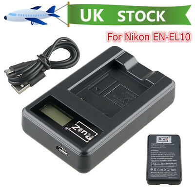 Camera USB Battery Charger for Nikon EN-EL10 COOLPIX S220 S225 S510 S700 S5000