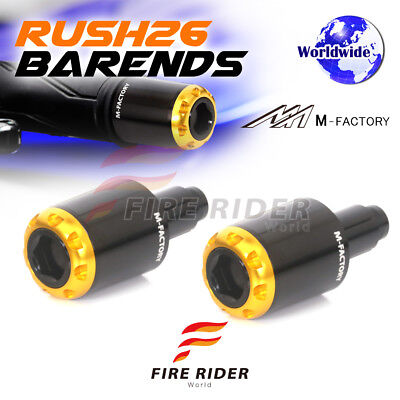 New Gold RUSH26 CNC Bar End Plugs For KTM 690 Supermoto / SMC 07-15 07 08 09 10