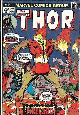The Mighty Thor Comic Book #225 First Firelord, Marvel Comics 1974 FN/FN+