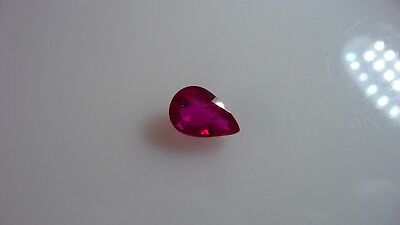 2.6 ct,delightful pear cut, deep pink RUBY - Africa REDUCED