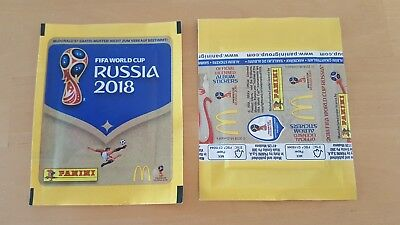 Panini WM 2018 1 Mc Donalds Tüte Fifa WC 18 Bustina Pochette Packet World Cup