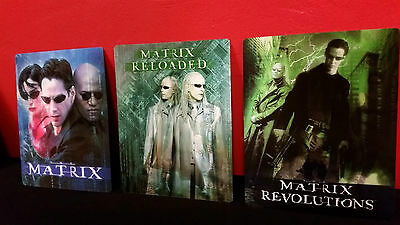 THE MATRIX 1 2 3 TRILOGY - 3D Lenticular Magnet Cover for BLURAY STEELBOOK