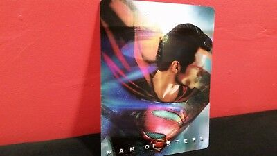 MAN OF STEEL - 3D Lenticular Magnet / Magnetic Cover for BLURAY STEELBOOK