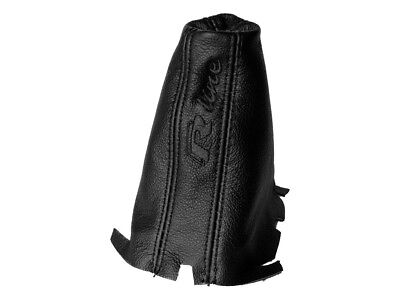"""Shift Boot For Volkswagen Golf 7 DSG 2013-2018 Leather """"R-Line"""" Black Embroidery"""