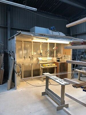 lacquering  spray booth