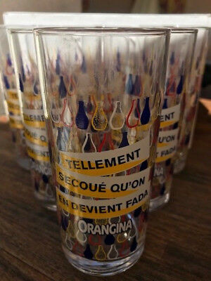 Orangina Lot De 6 Verres Collector 2018 Sud Est .tellement Secouequ On En Devien