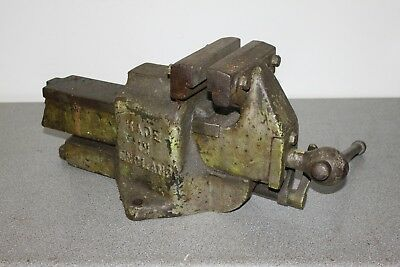 """Large Record 6"""" quick release bench vise full working order"""