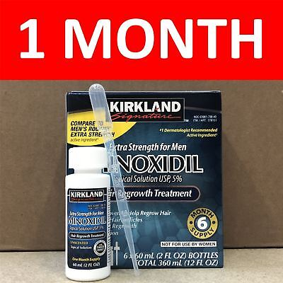 Kirkland Minoxidil Solution 5% - 1 Month Supply - Expiry May 2020