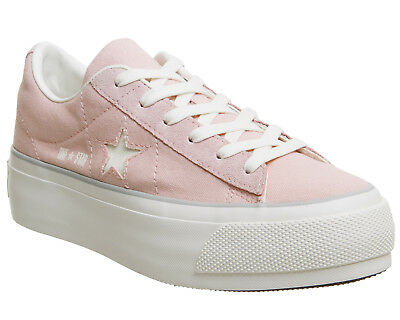 3e86d234236 WOMENS CONVERSE PINK Suede Lace Up Trainers Size UK 5  Ex-Display ...