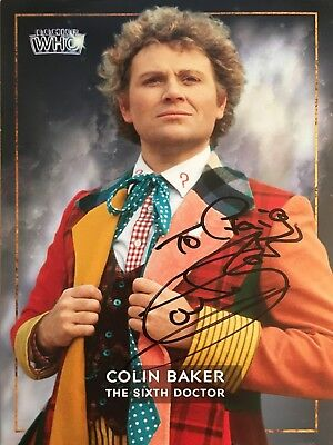 DR DOCTOR WHO SIGNED DWM CARD ** COLIN BAKER Autograph