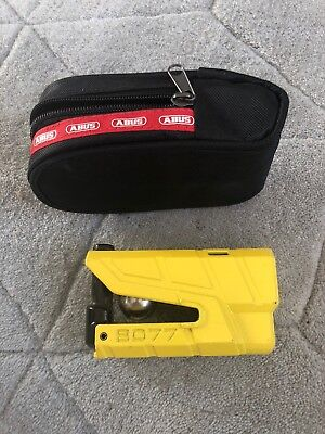 Abus Granite Disc Lock 8077 Detecto With Case And Reminder Cable