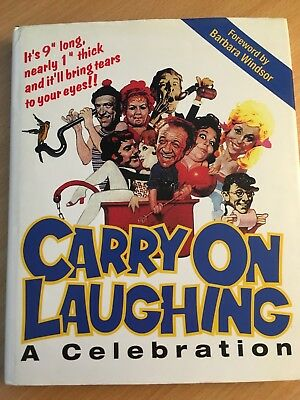 Signed Carry On Laughing a Celebration Book AUTOGRAPHED Hard Back 11 Signatures
