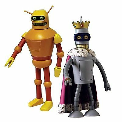 FUTURAMA SUPER KING BENDER CALCULON 2 figurines PVC Toynami