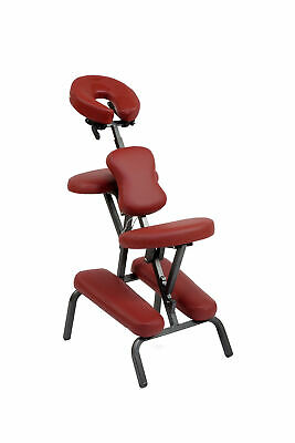 Chaise De Massage Pliante Et Portable Couleur Bordeaux + Sac De Transport