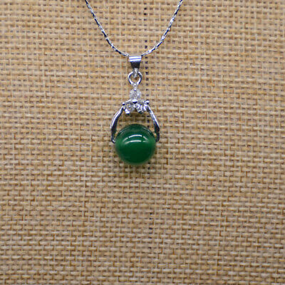beautiful chinese Green jade pendant china lucky amulet include necklace