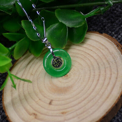 Fashion beautiful chinese Green jade pendant china lucky amulet include necklace