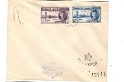 1946 Falkland Islands - Registered Victory Issue Cover From Collection 5B/3