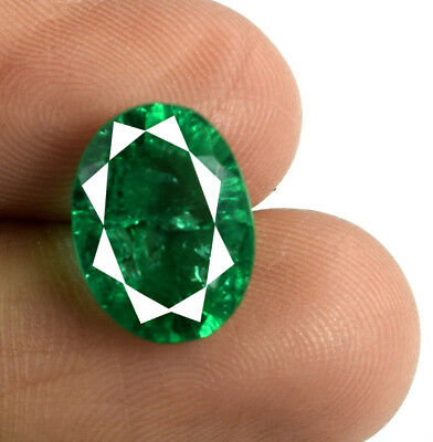 5.10 Ct Muzo Colombian Emerald Collection 100% Natural Oval AGSL Certified E5067