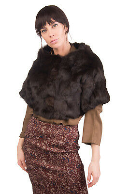 GUARDAROBA BY ANIYE BY Rabbit Fur Bolero Size M Cropped Made in Italy RRP€560