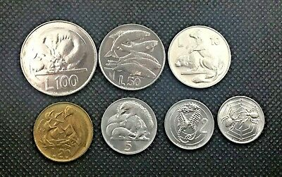 1975 SAN MARINO (Italy) complete set coins (7 coins) with silver UNC