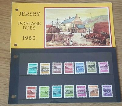 Jersey 1982 Postage Dues Pack Set Of 14 Mnh 1P -£1