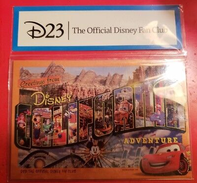 Disney California Adventure Magnetic Postcard - D23 Member Exclusive