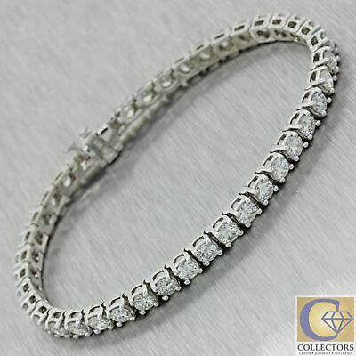 Jewelry & Watches Lovely Modern Solid 14k White Gold 3.00ctw Diamond 3mm Tennis Bracelet N8