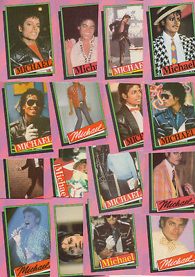 Topps 1984 Michael Jackson trade cards set of 34 cards