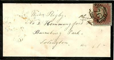 SG17 C1 1d Plate 183 On Mourning Envelope. Posted Within LONDON.
