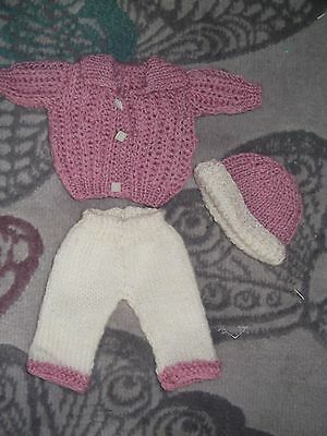 Hand knitted outfit for 10ins doll