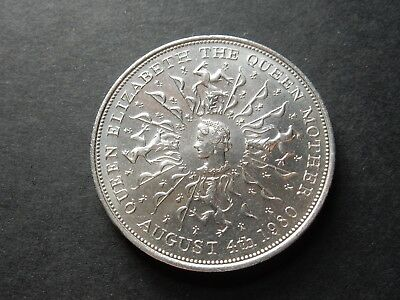 1980 QUEEN ELIZABETH II the QUEEN MOTHER 80th BIRTHDAY Collectable Coin HRH A5