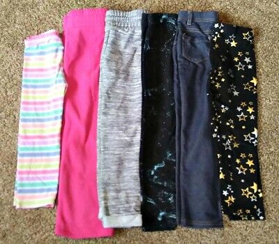 SIZE 4-5 Girls Leggings Lot Of 6 Pants Lot Girls Clothes 4 5 Girls Clothing Lot