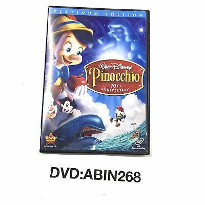 Pinocchio By Walt Disney DVD 70th Anniversary Platinum Edition Animated Movie